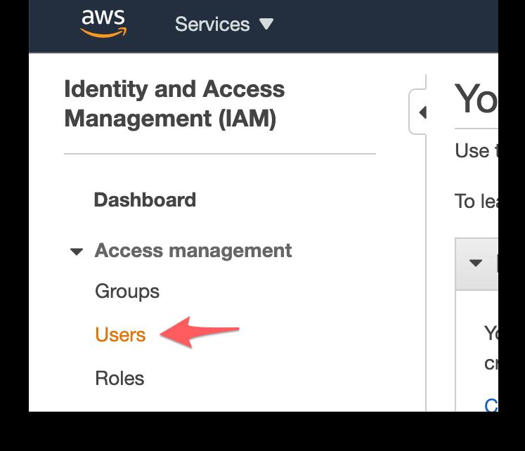 "Access Management ""Users"" menu"