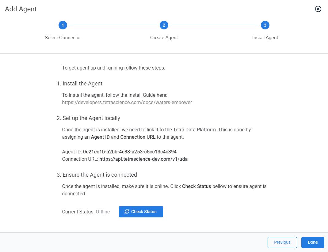 Add Agent Wizard (Install Agent)