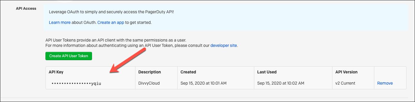 PagerDuty API Key