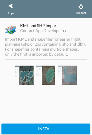 Shapefile or Google Earth KML Flight Planning