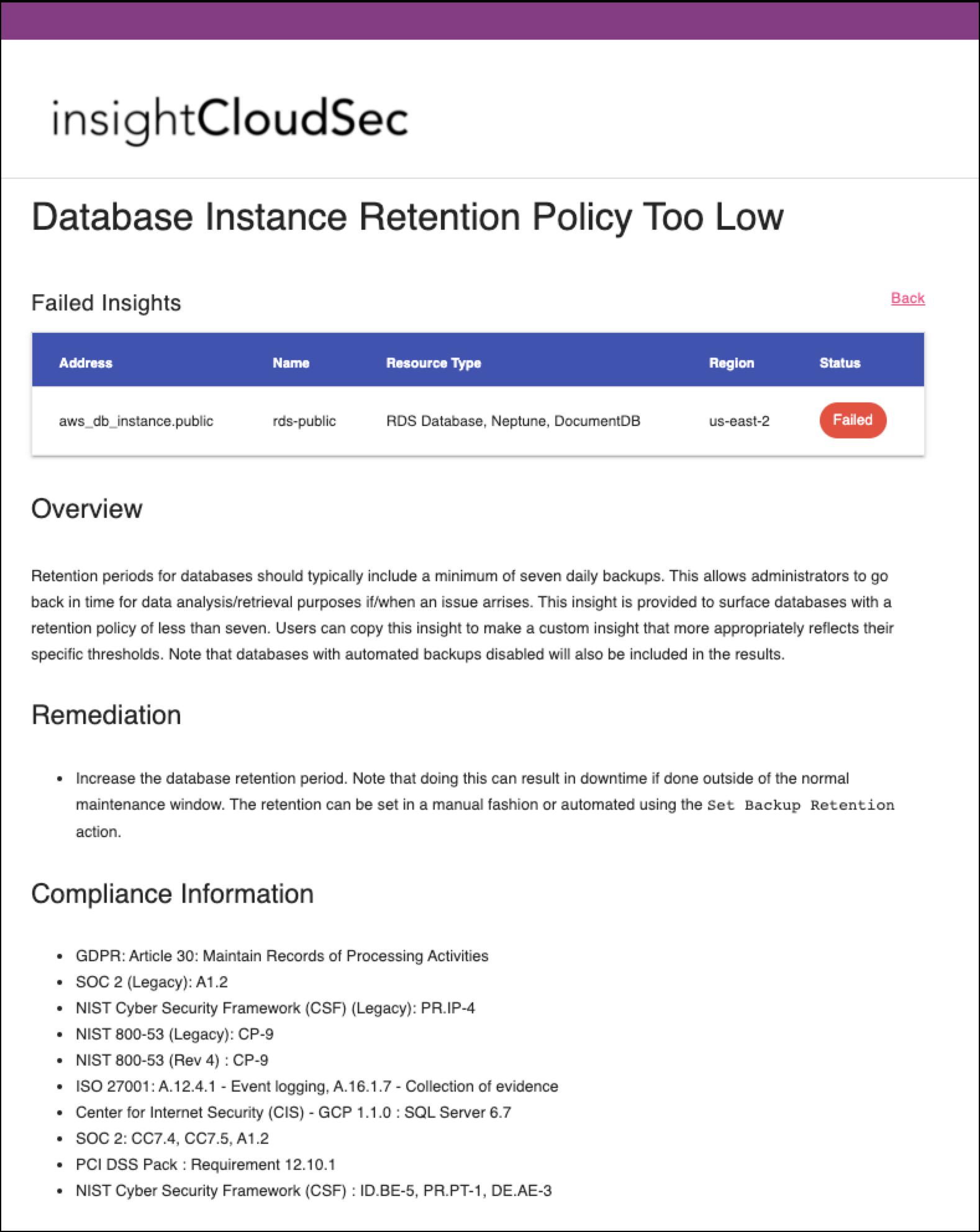 Example HTML IaC Security Report