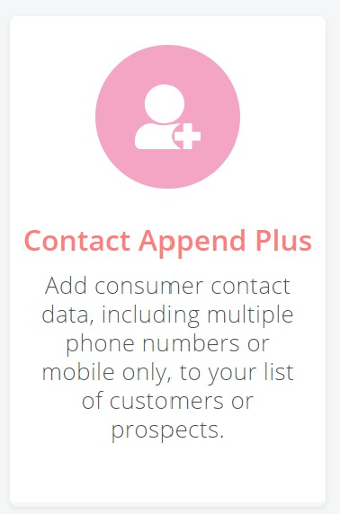 Contact Append Plus tile
