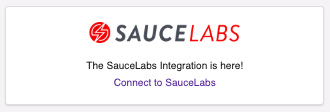 Click 'Connect to Sauce Labs'.