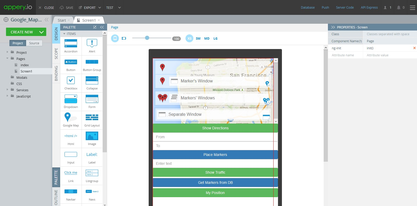 App Builder for Bootstrap.