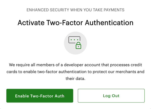 Screenshot of pop-up window that appears when you log into your developer account.