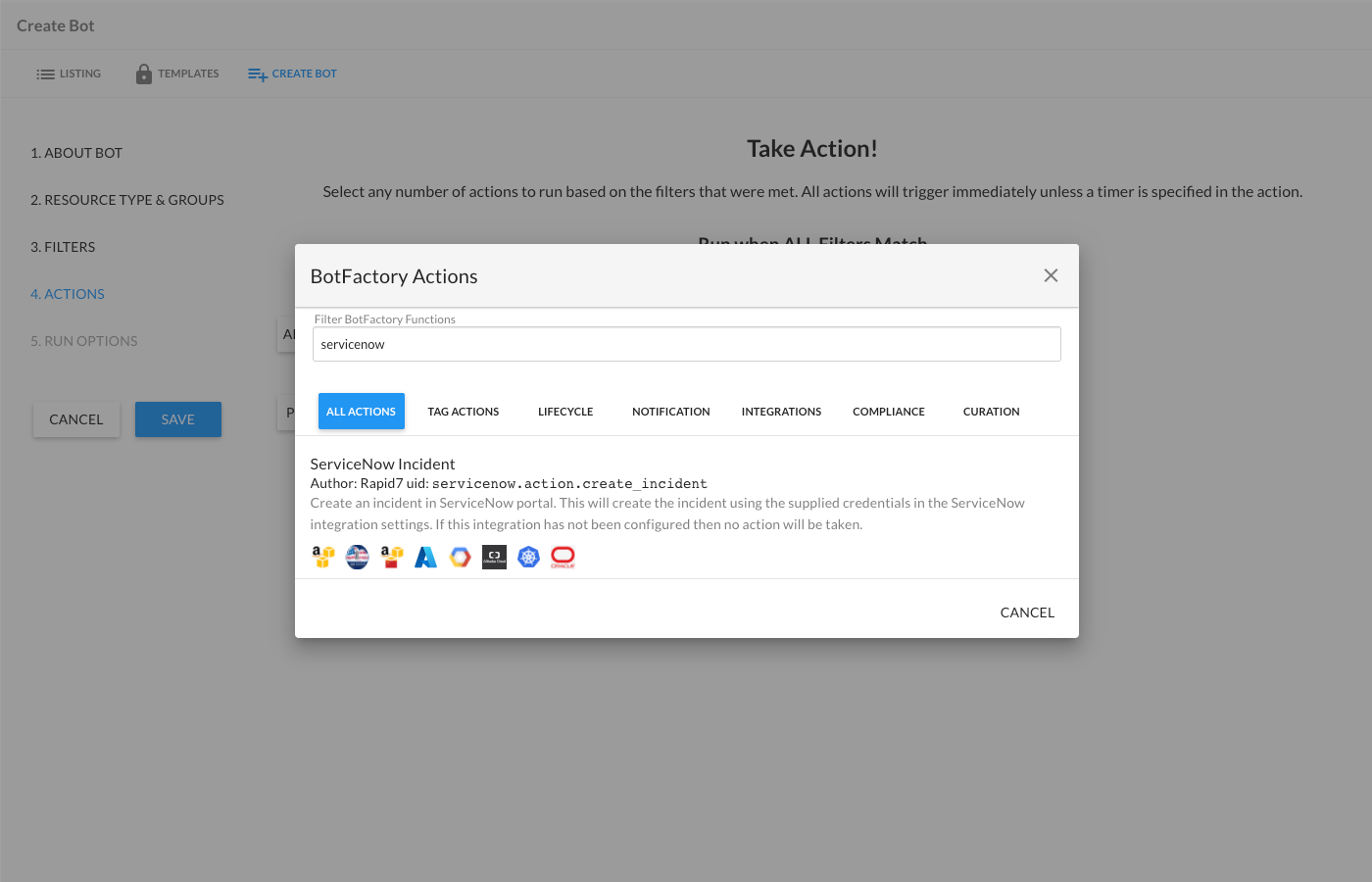 Configuring the ServiceNow Incident Bot