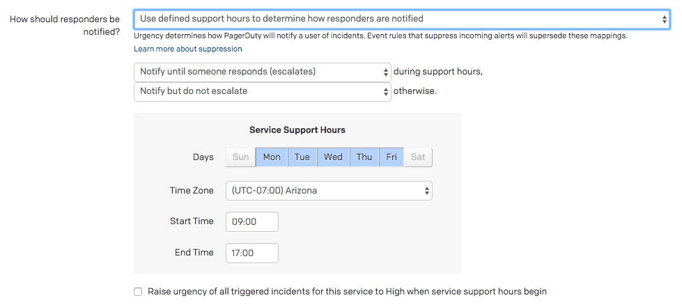 Configurable Service Settings