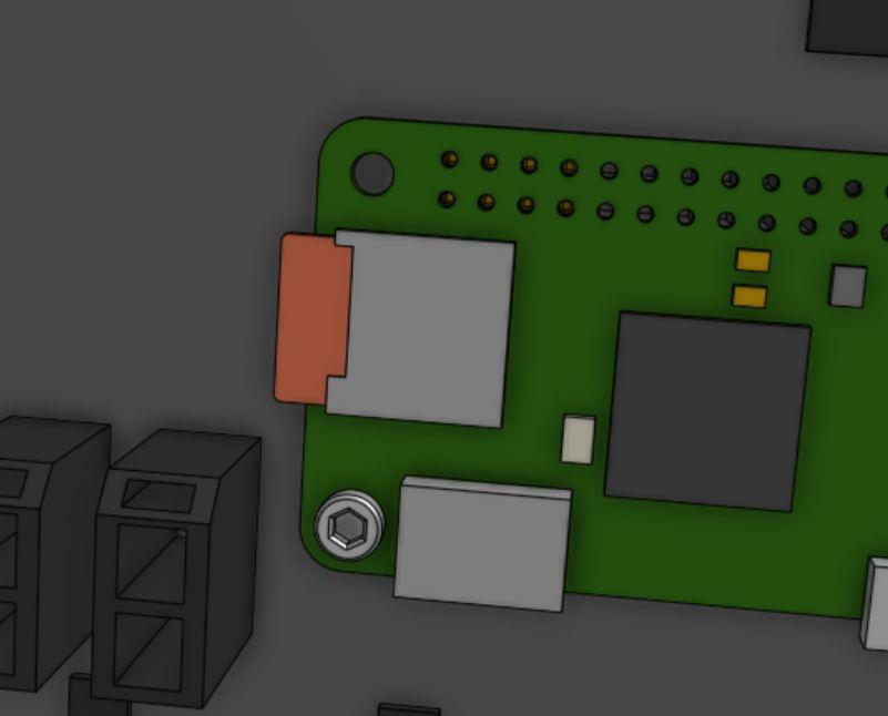 MicrosD card slot on the Raspberry Pi Zero W