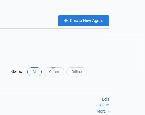 Create New Agent Button