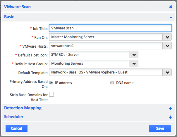 Creating an Autodiscovery scan