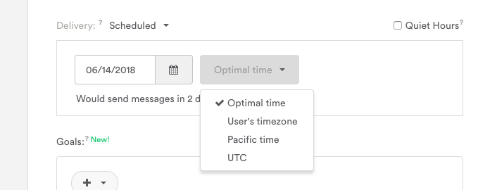 "Our timezone is PST, which is why Pacific time is an option. See ""Your timezone"" for more details."