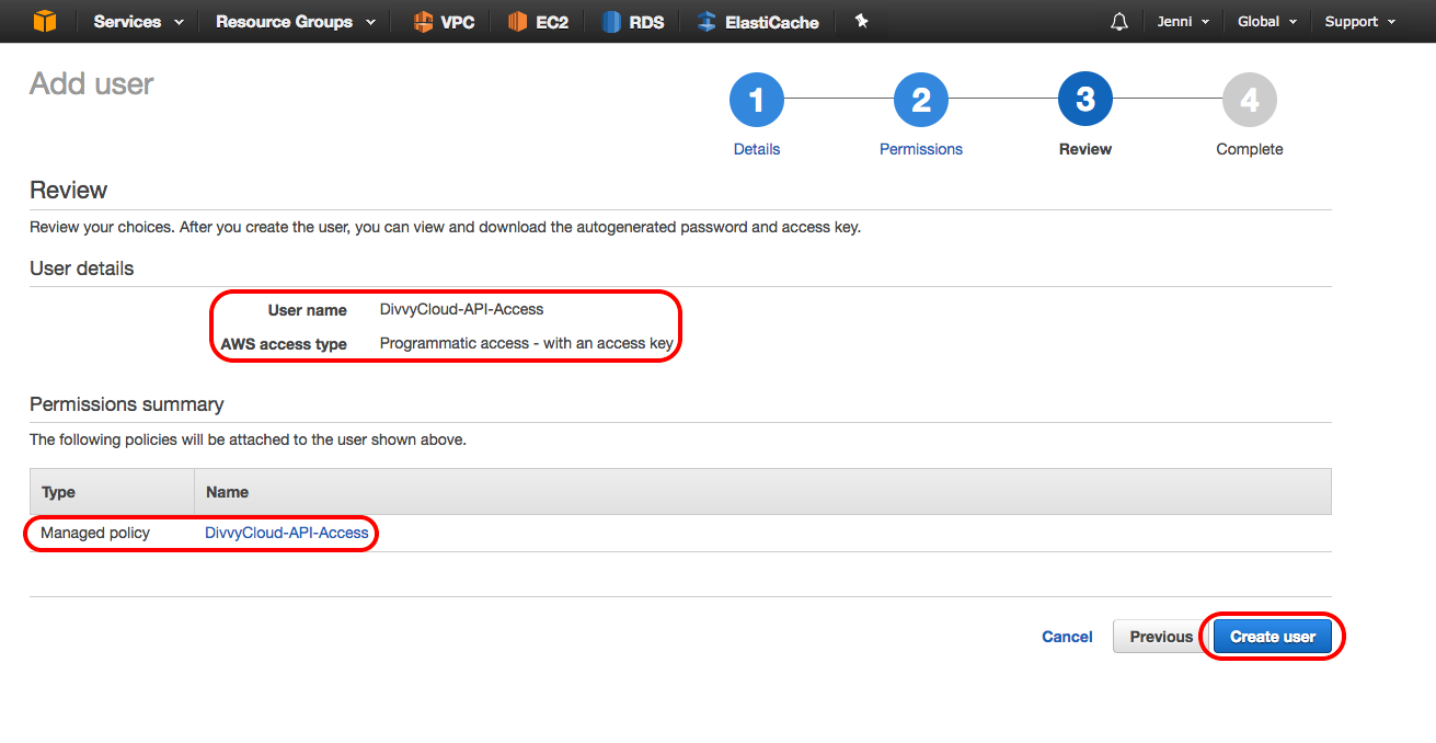 API Access Keys (AWS)