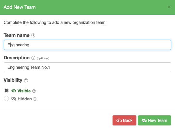Add New Team form