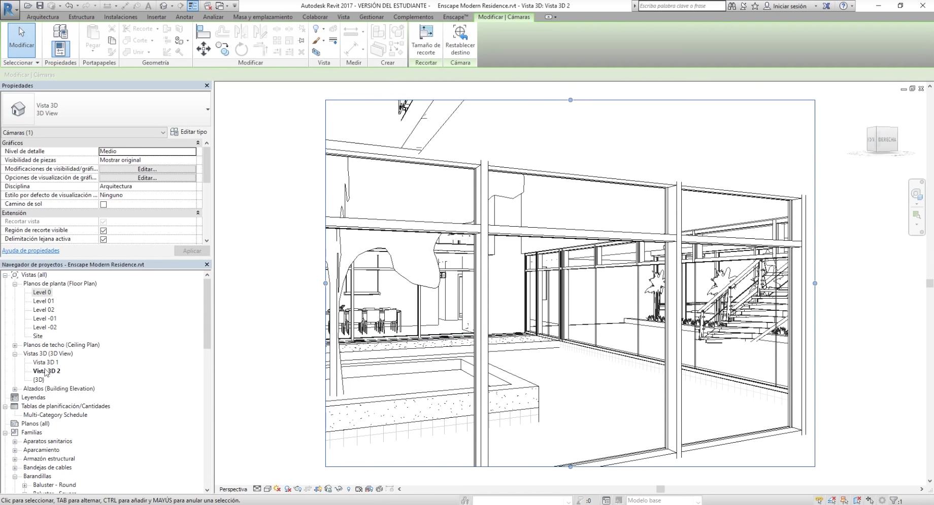"""Aquí también podrás re nombrar los espacios. Llamaremos a los renders; """"Patio"""" y """"Salon""""."""