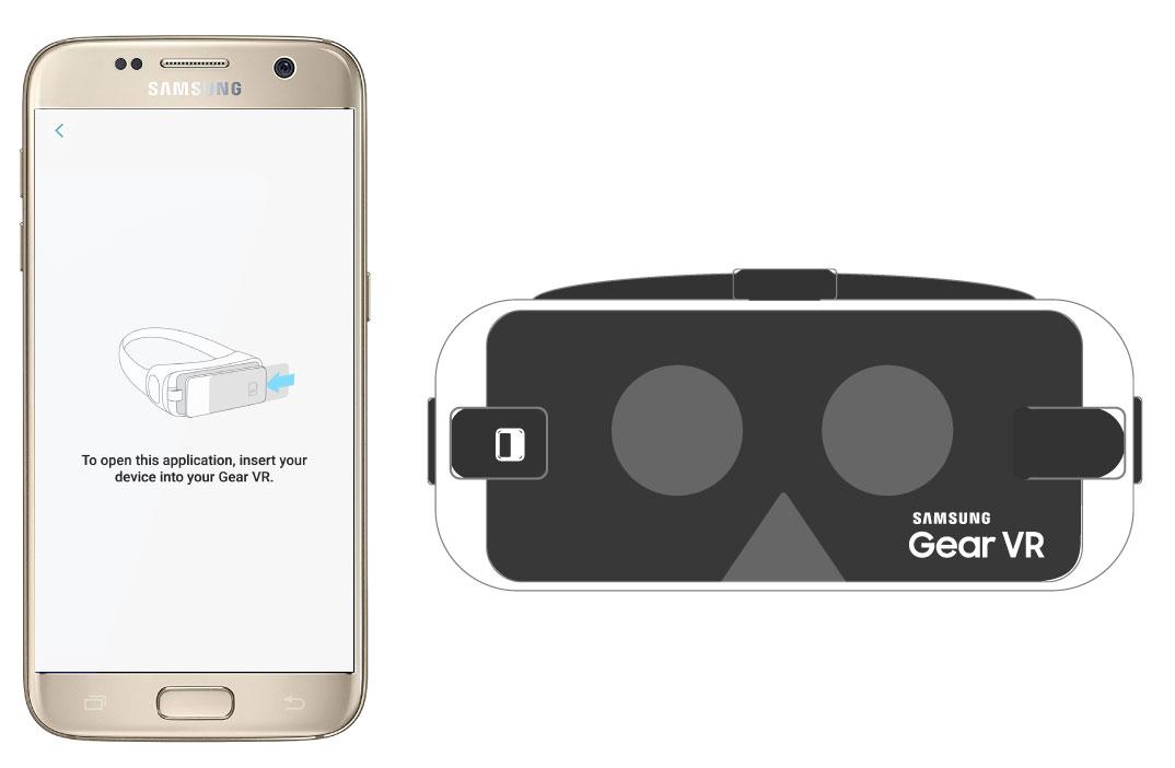 Abre la aplicación e insértala en Gear VR