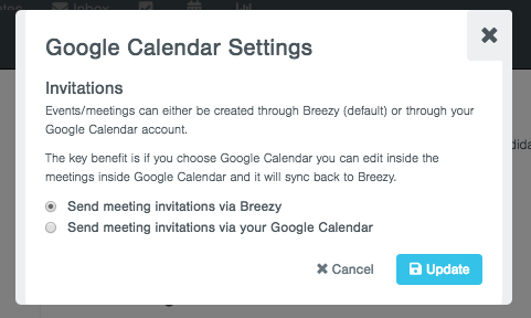 Sending the invite from Google Calendar allows you to edit the event inside Google Calendar allowing you to add in more customization in the event (read ...