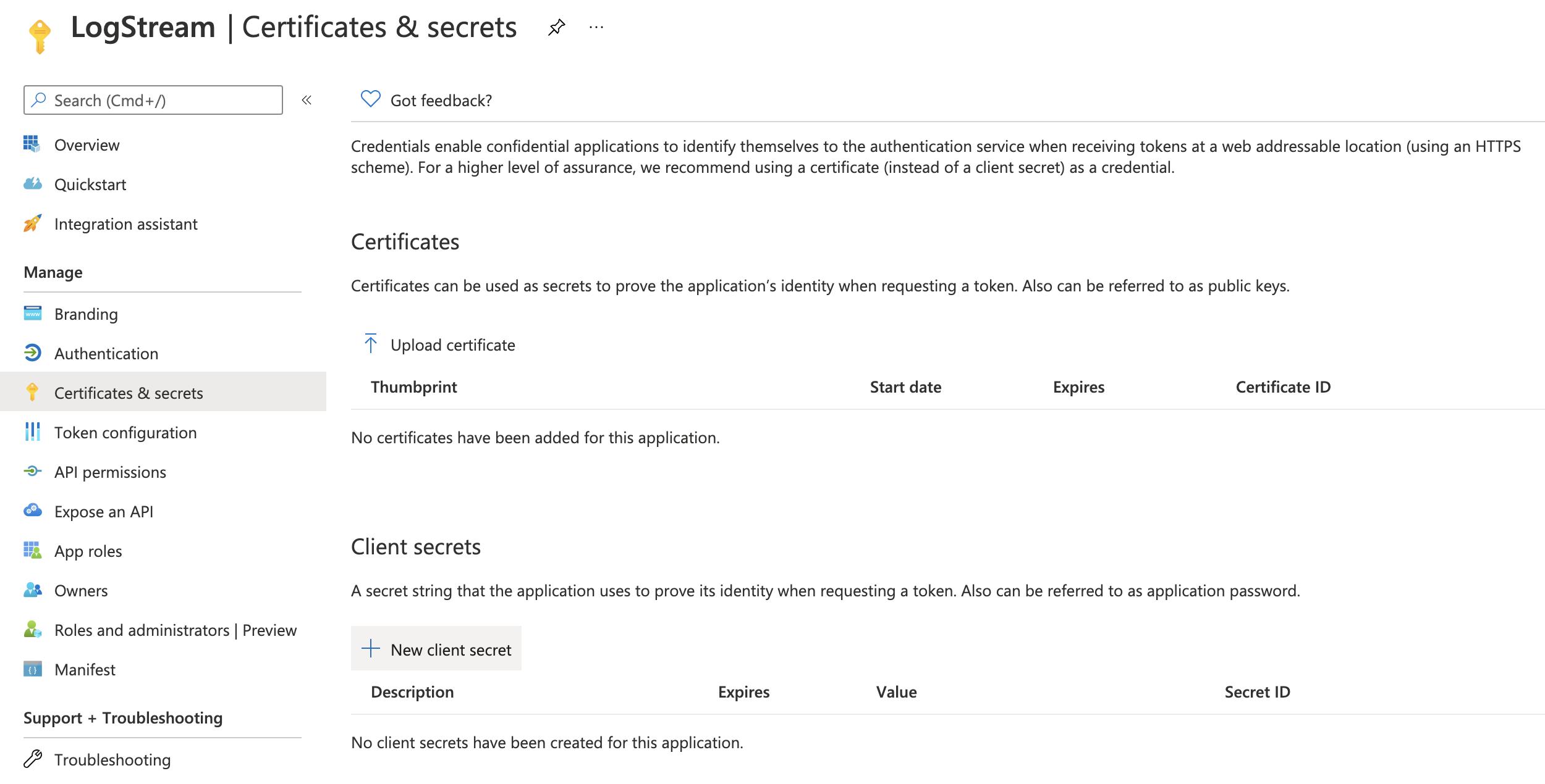 Accessing client secrets
