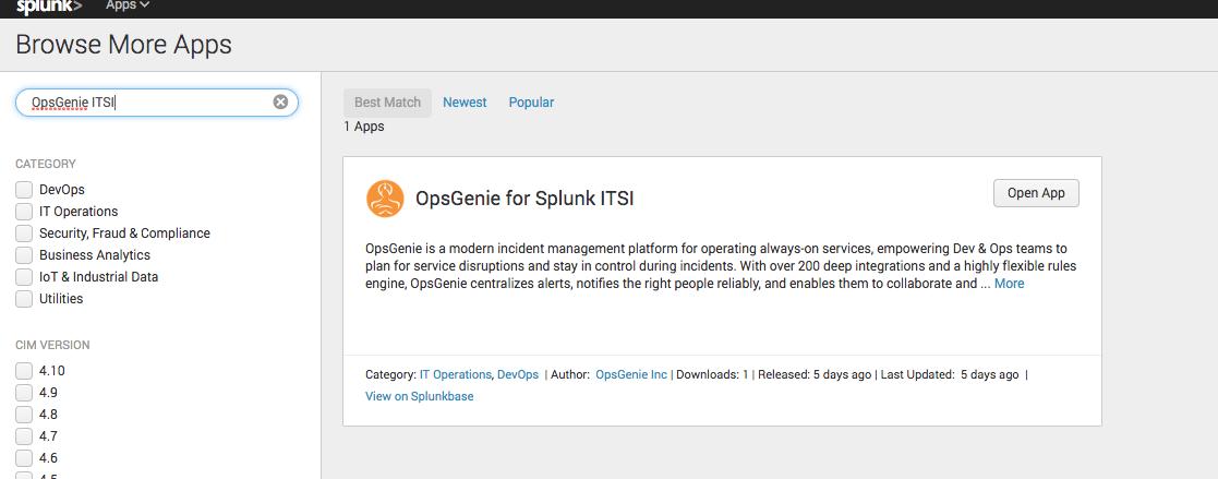 Splunk IT Service Intelligence Integration