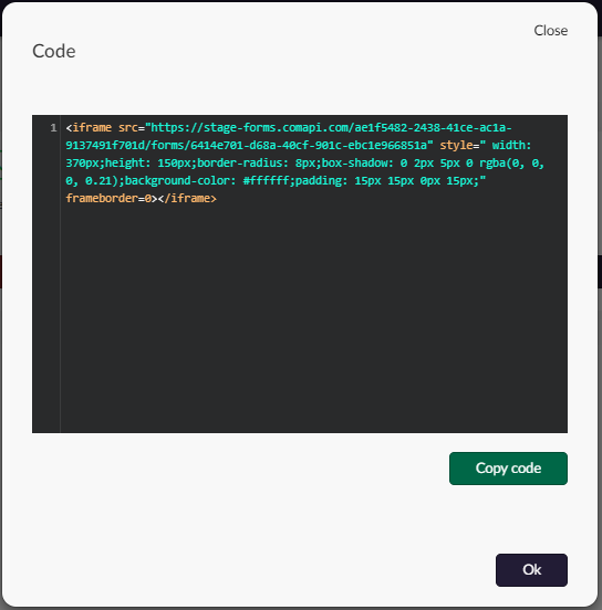 Grab the code and embed into your web page