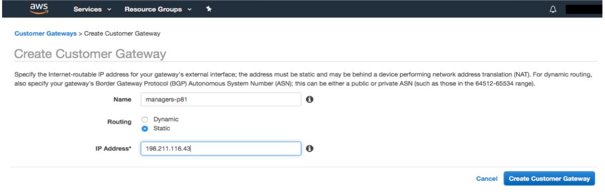 AWS - Site-to-Site IPSEC