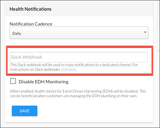 Add a Slack WebHook for Health Notifications