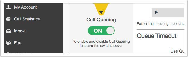 Turn on Call Queuing