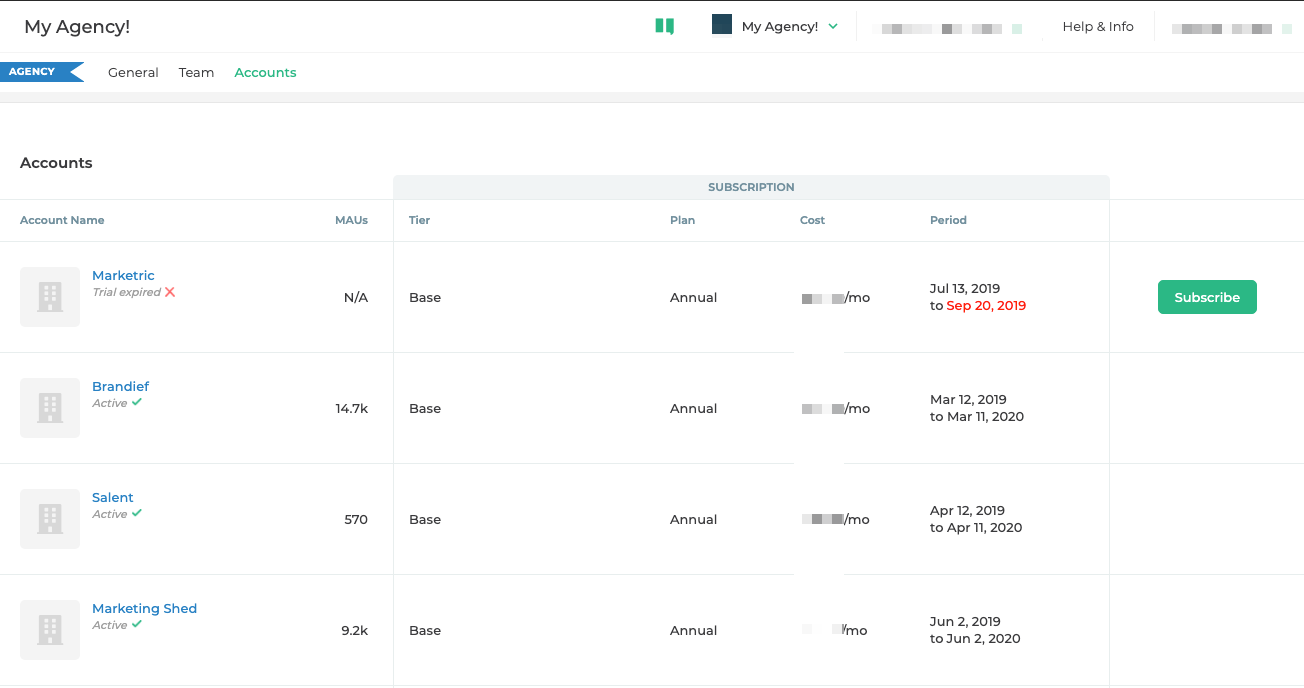Manage all your accounts in one place
