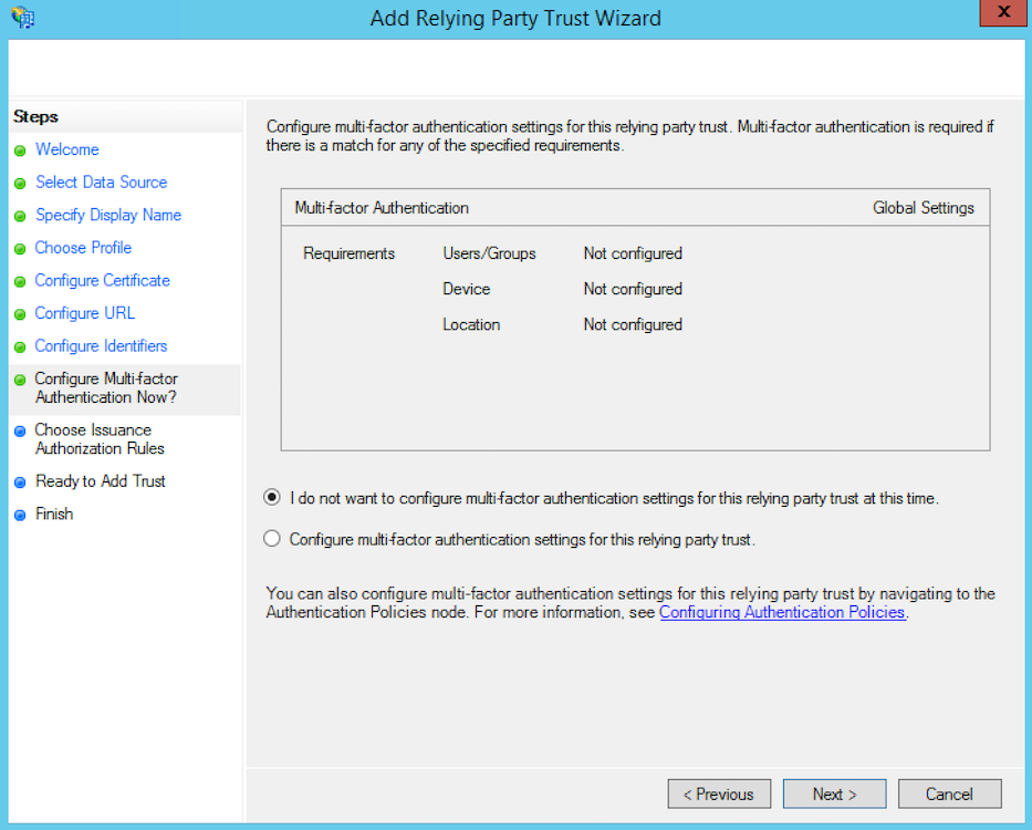 Microsoft Active Directory Federation Services SSO