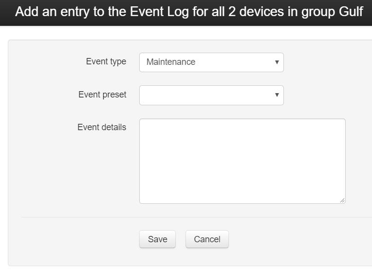 Event Menu Details