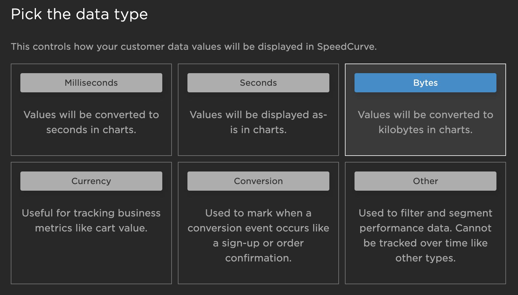 Configuring custom metrics