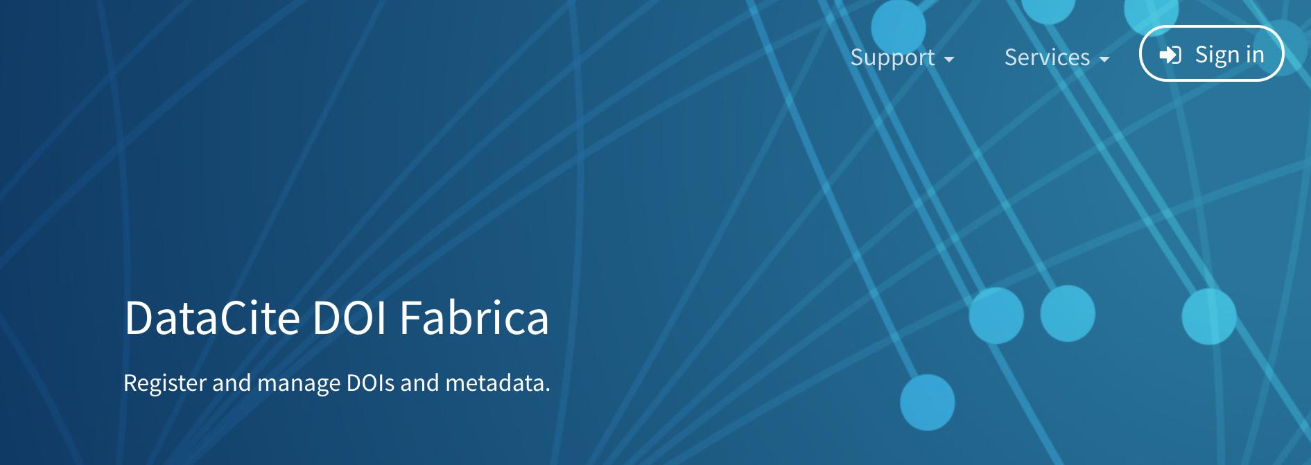 DOI Fabrica: main page