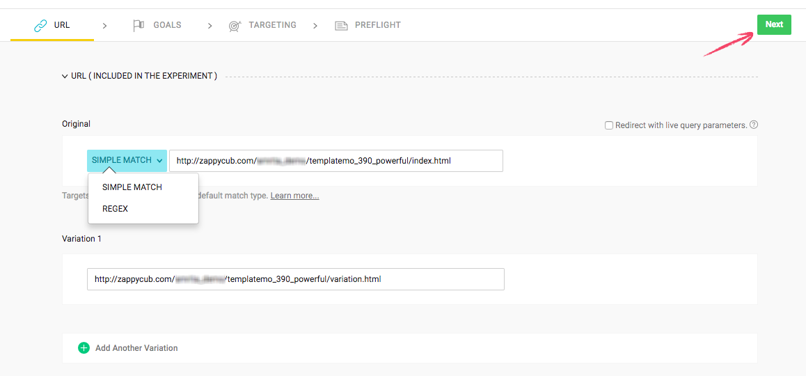 Split URL : URL Tab