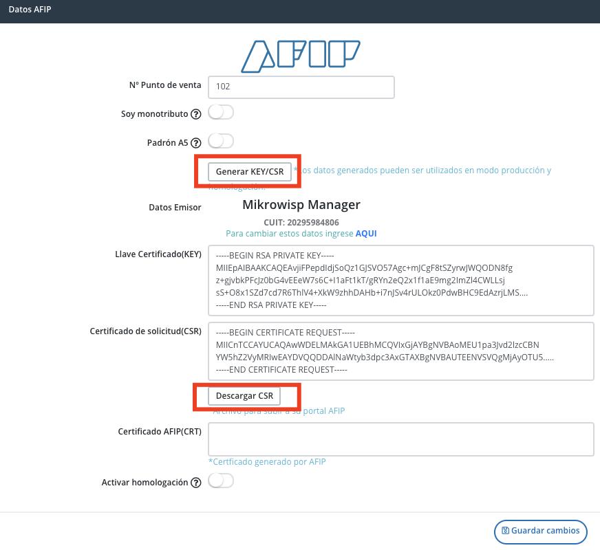 Nuestros dato Emisor (Nombre) y CUIT deben ser lo correctos tal cual estamos dado de alta en AFIP. Estos datos son tomados desde la sección Ajustes->general