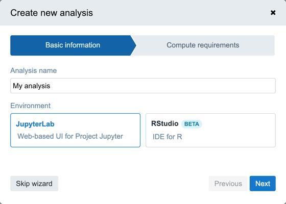 Run an analysis using Data Cruncher