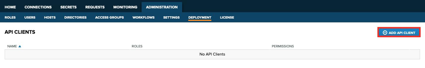 Click **Add API Client**.