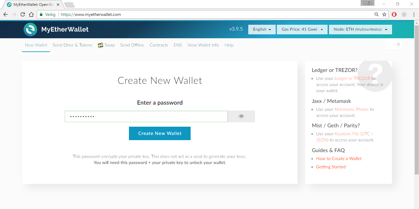 *Figure 2.1. Open [MyEtherWallet](https://www.myetherwallet.com/) in a web browser.*