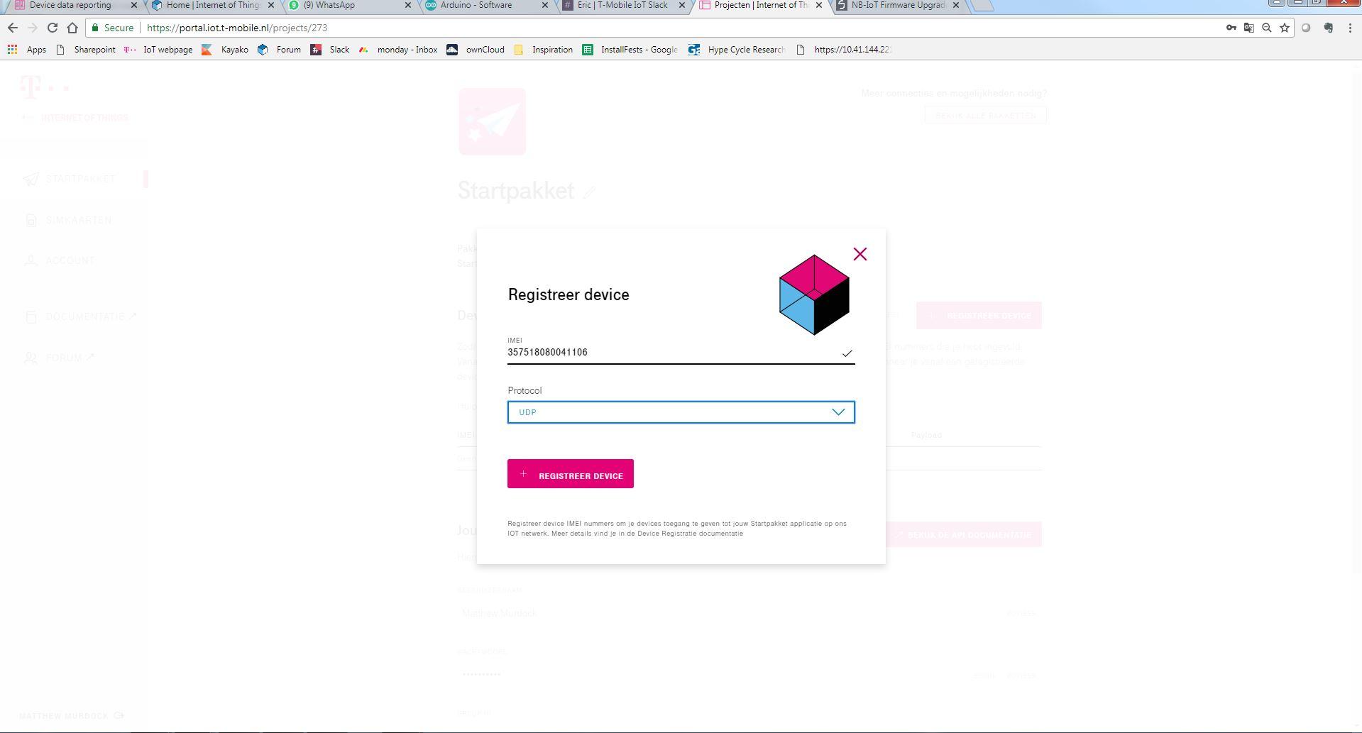 III  Device Registration (GUI)