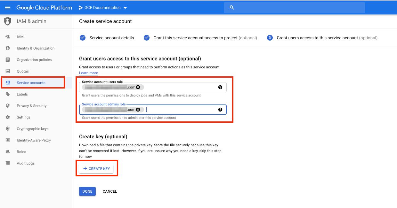 GCP - Service Account Domain Name/User