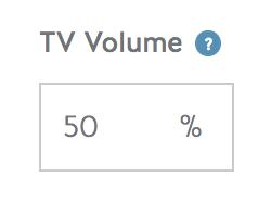 TV volume screenshot