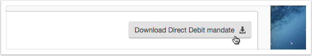 clicking the 'Download Direct Debit mandate' button
