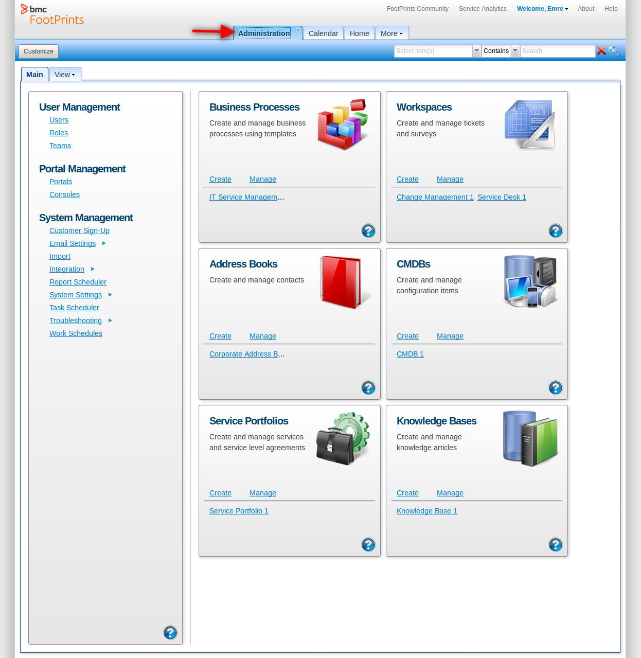 BMC FootPrints V Integration Beforeeu - Footprints help desk software