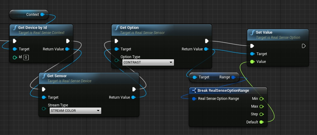 Get and set options value