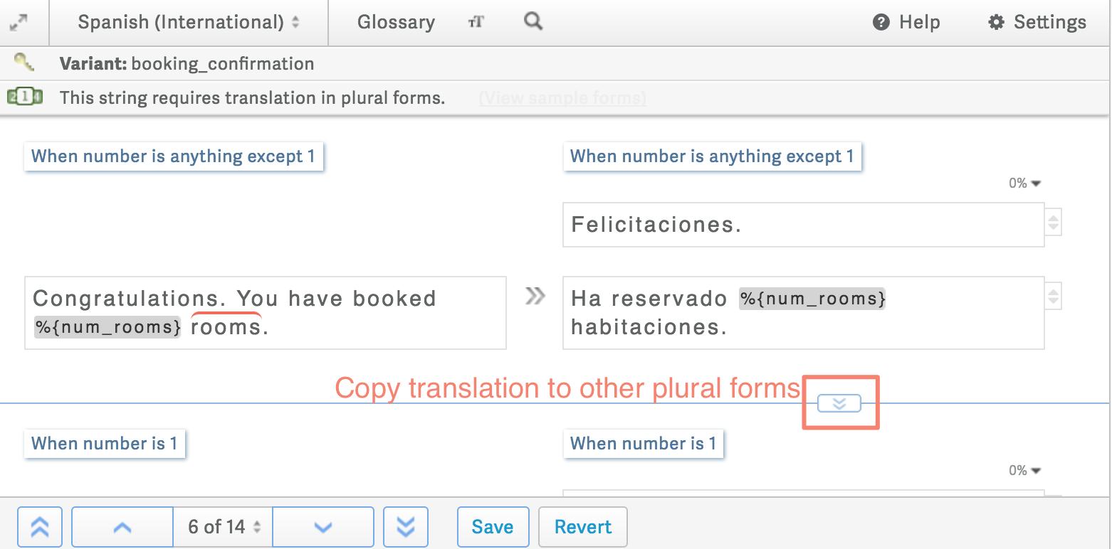 Translating Plurals in the Classic CAT Tool