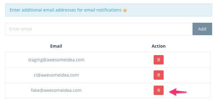 Step 3: Email list