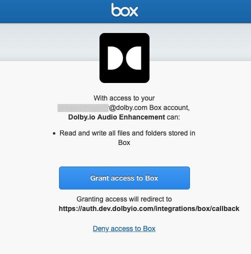 Grant access to Box