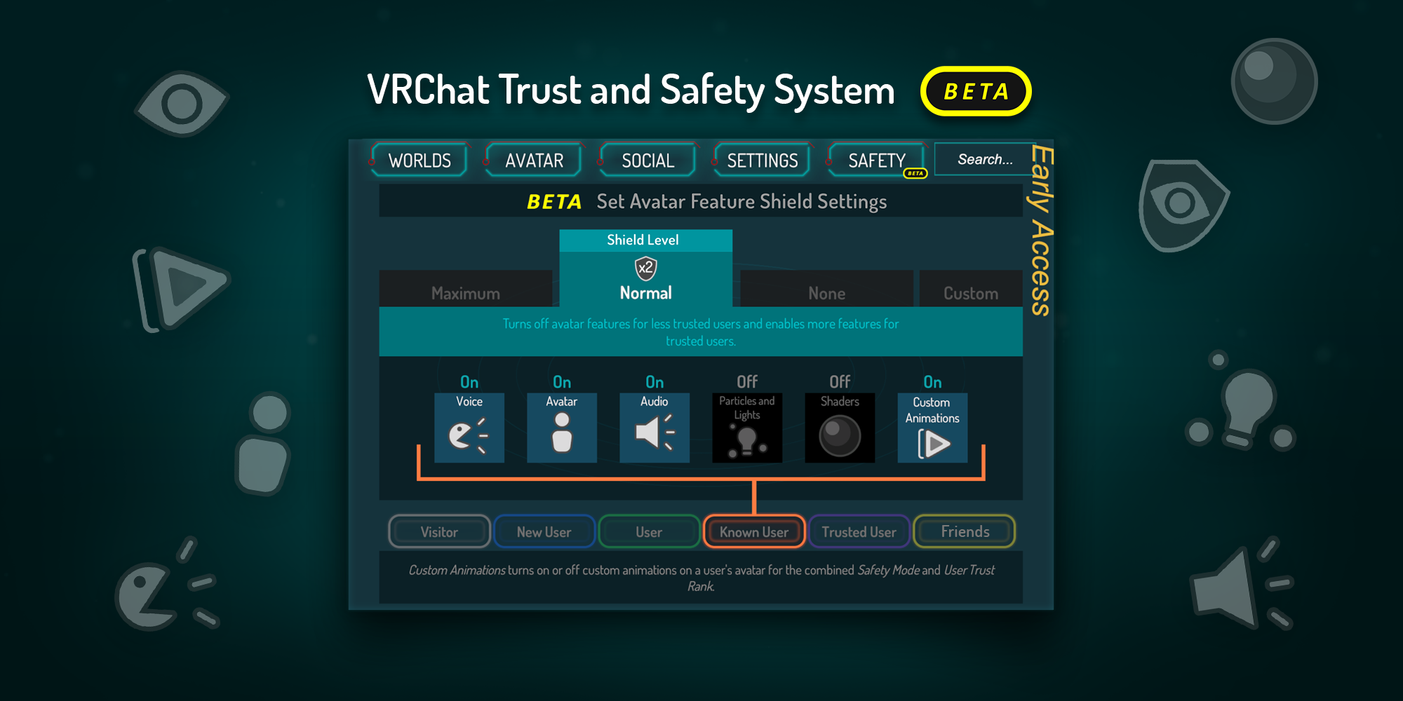 VRChat Safety and Trust System