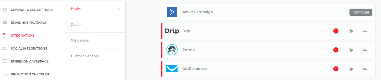ActiveCampaign and Outgrow Integration