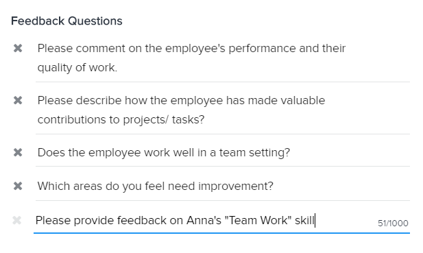 manager feedback questions