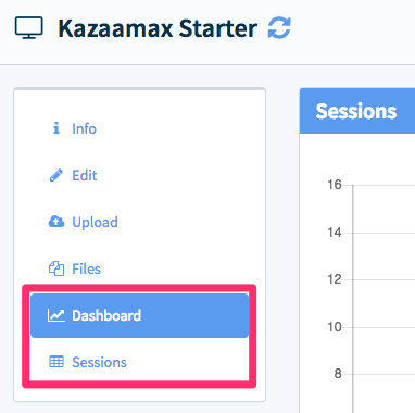 GA is for trending.  Go to the Dashboard and Sessions tabs if you want all of the data captured by Mobile Locker.