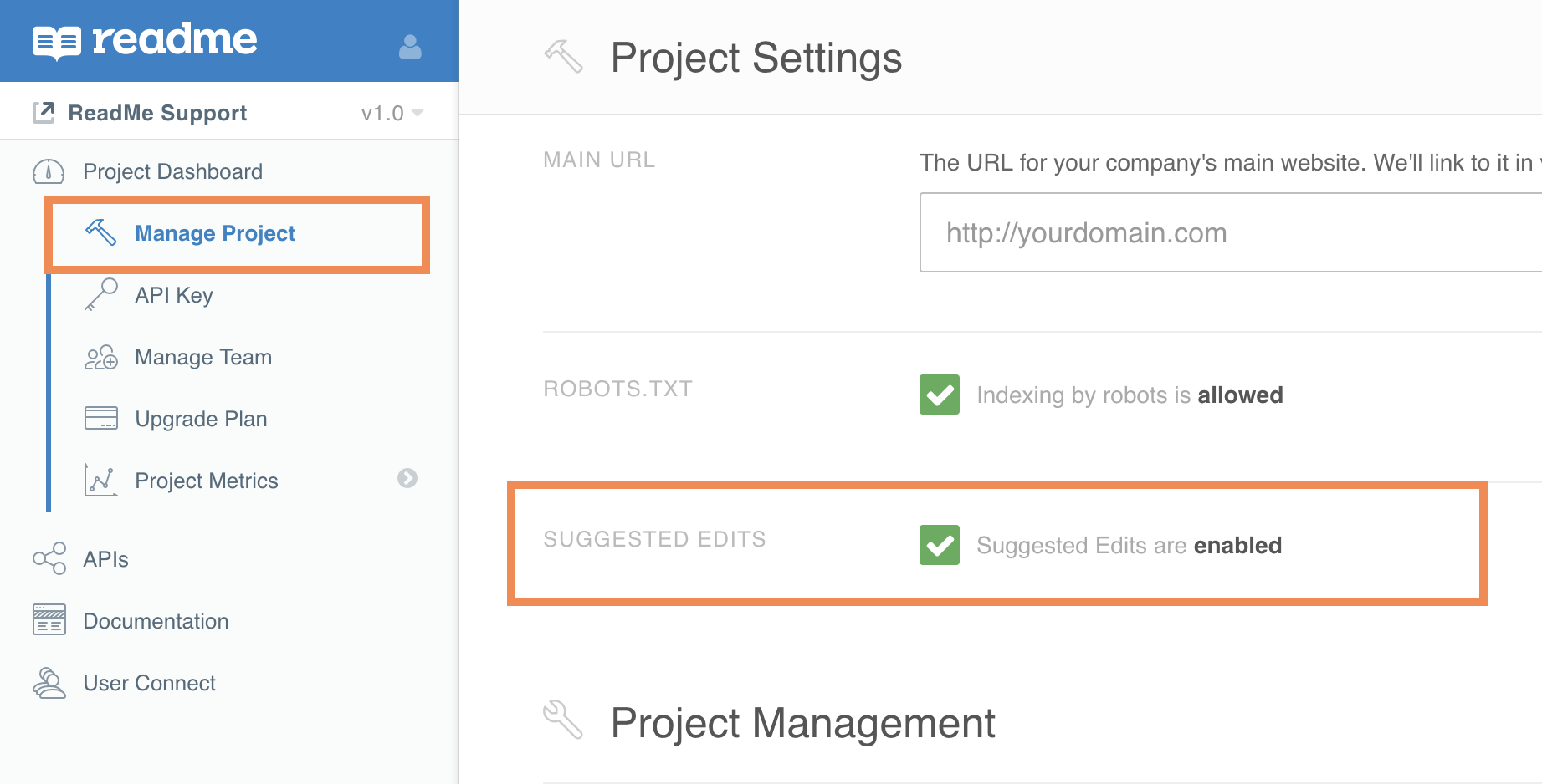 Uncheck the box under **Project Dashboard > Manage Projects** and hit Save!